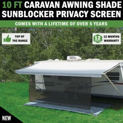 10 FT Caravan Awning Shade Sun Blocker Privacy Screen Suit Fits All