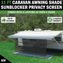 11 FT Caravan Awning Shade Sun Blocker Privacy Screen Suit Fits All