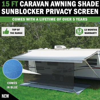 15 FT Caravan Awning Shade Sun Blocker Privacy Screen Suit Fits All