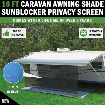 16 FT Caravan Awning Shade Sun Blocker Privacy Screen Suit Fits All