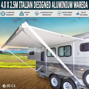 Caravan Awning Roll Out 4.0m x 2.5m NEW Italian Designed Aluminium Wareda