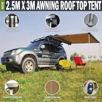 2.5M x 3M Awning Rooftop Tent Camper Trailer 4WD 4X4 Camping Car Rack