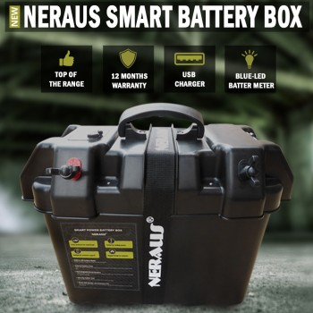 Neraus Smart Battery Box AGM Deep Cycle Up To 130 AH Dual System