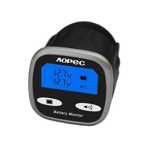 Single Marine Battery Voltage Monitor : Aopec v dual battery monitor management system a