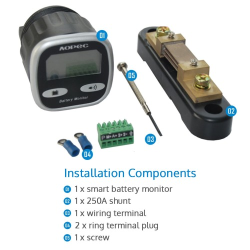 House Battery Monitoring : Aopec v dual battery monitor management system a