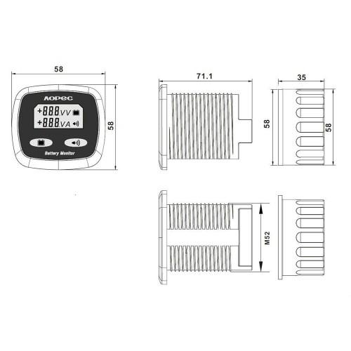 Marine Battery Monitoring System : Alternative energy aopec v dual battery monitor