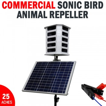 Commercial Sonic Bird Animal Repeller Solar Powered Covers Up To 25 Acres