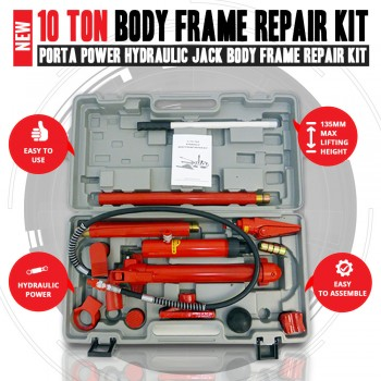NEW 10 Ton Porta Power Hydraulic Jack Body Frame Repair Kit Auto Shop Tool Heavy