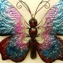 Large 60 cm Iron Butterfly Metal Wall Hanging Sculpture Home Garden Decor