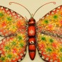 Large 60 cm Iron Butterfly Metal Wall Hanging Sculpture Home Garden Decors
