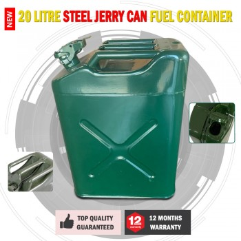 New 20 litre Steel Jerry Can Fuel Container