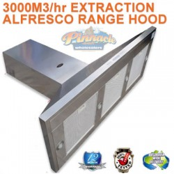 1500 WIDE COMMERCIALALFRESCO CANOPY OUTDOOR INDOOR RANGEHOOD