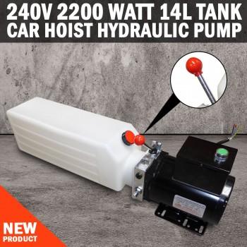 NEW 240V 2200 Watt 14L Tank Car Hoist Hydraulic Pump
