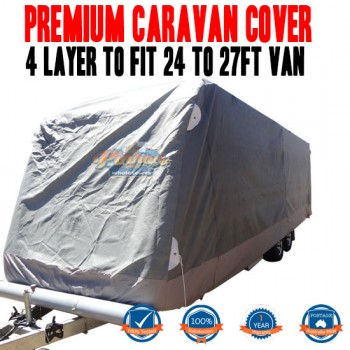 PINNACLE 4 LAYER PREMIUM CARAVAN COVER to fit 24 to 27ft Van UV & Waterproof