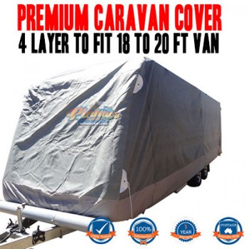 PINNACLE 4 LAYER PREMIUM CARAVAN COVER to fit 18 to 20ft Van UV & Waterproof