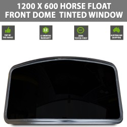 1200 X 600 Horse Float Front Dome Tinted Window