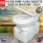 New Caravan RV Cassette Toilet Scratch Resistant Swivel Access Piston Push Flush