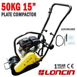 "50KG 15"" Genuine Loncin Plate Compactor Wacker Packer Rammer Industrial"