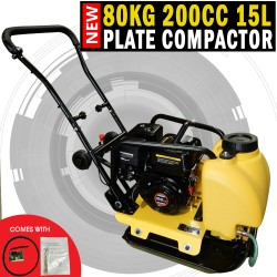 Genuine 200cc Powered 80KG Plate Compactor Wacker Packer Industrial