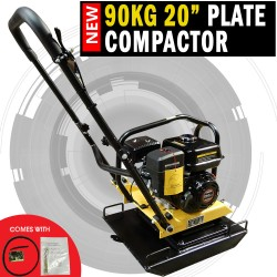"90KG H-Power 20"" Genuine Loncin Powered Compactor Ductile Cast Iron Plate"