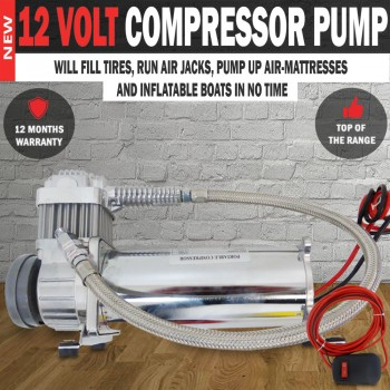 12 Volt Compressor Pump 200 PSI Comes With Full Wiring Kit & Switch