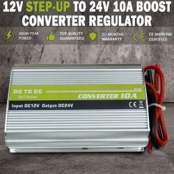 12V DC Step-up to 24V 10A Boost Voltage Converter Regulator