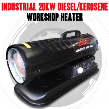 INDUSTRIAL 20KW DIESEL, KEROSENE WORKSHOP SHED HEATER