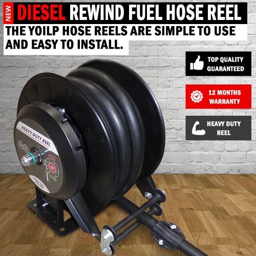 Diesel Fuel Tanks & Accessories : Fuel Hose Reel Spring Rewind