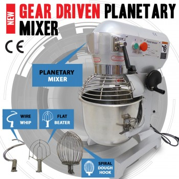 New 20 Litre Gear Driven Planetary & Dough Food Mixer