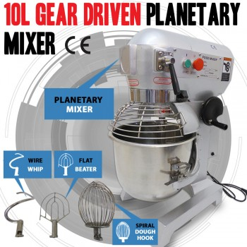 New 10 Litre Gear Driven Planetary & Dough Food Mixer