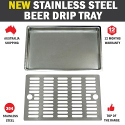NEW Stainless Flush Mount Steel Drip Tray Beer Home Brew