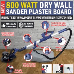 800 Watt Dustless Dry Wall Sander Plaster Board Extraction System Gyprock