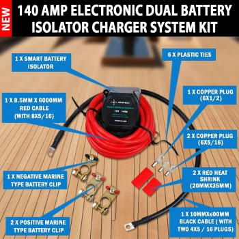 Aopec 170 Amp Electronic Dual Battery Isolator Charger System Kit Car Boat
