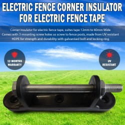 UV Resistant Electric Fence Corner Insulator For Electric Fence Poly Tape