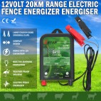 20km12V Electric Fence Energiser Charger Poly Wire Tape Posts