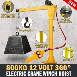 Electric Hoist Winch Crane 300kg 12V 360 Degree Engine Car Truck Lift