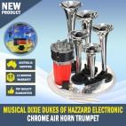 Musical Dixie Dukes Of Hazzard Electronic Chrome Air Horn Trumpet