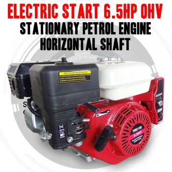 ELECTRIC START 6.5HP OHV STATIONARY PETROL HORIZONTAL SHAFT ENGINE