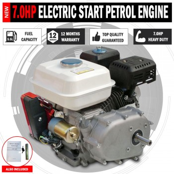 NEW 7.0Hp Stationary Petrol Engine 2:1 Electric Start