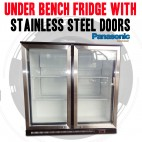 Under Bench Fridge With 2 Stainless Steel Doors