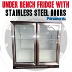 Under Bench Fridge With 2 Stainless Steel Doors