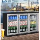 NEW BLACK Stainless 3 Door Under Bench Display Fridge Refrigerator
