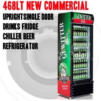 New Commercial Upright Single Door Drinks Fridge