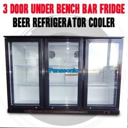 3 Door Under Bench Bar Fridge, Beer Refrigerator Cooler