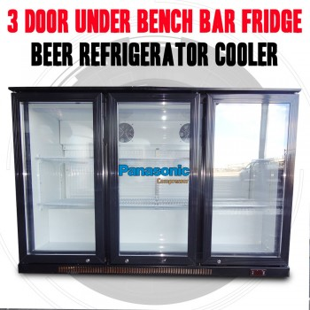3 Door Under Bench Bar Fridge, Beer Refrigerator Cooler