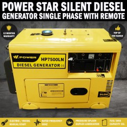 Power Star 8Kva/6Kva Rated Diesel Silent Generator Single Phase, W Remote