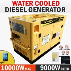 H-POWER 10kVA Max 9kVA Rated Diesel Generator 20HP Single Phase Commercial