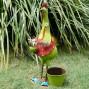 Chicken Garden Pot Plant Metal Decor Statue Ornament Figurine Outdoor Indoor