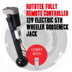 NEW Rototek 12v Remote 3 Ton Electric Trailer Jack Gooseneck 5th Wheeler Leg