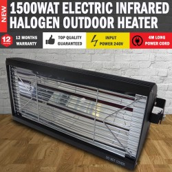 NEW 240V Electric Halogen Patio Heater Indoor/Outdoor Lamp Unit